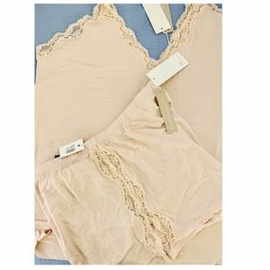 "Skin Intimates & Sleepwear - SKIN ""Juno"" and ""Jessie"" Lace-trimmed Jersey PJs"